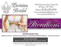 Alterations on bridal and evening gowns in Fort Bliss, Texas