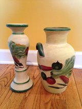 Pottery Urn and Candlestick in Yorkville, Illinois