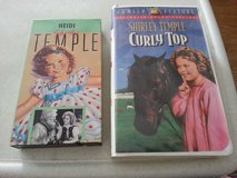 SHIRLEY TEMPLE  in HEIDI & CURLY TOP   VHS tapes in Naperville, Illinois