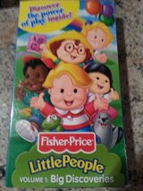 Fisher Price Little People. VHS tapes in Lockport, Illinois