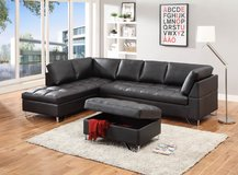 LARGE BLACK SECTIONAL in San Bernardino, California