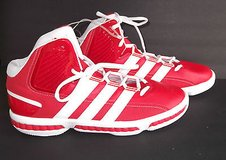 Adidas Misterfly sz 18 Basketball Shoes red white new g47335 discontinued shoe in Chicago, Illinois