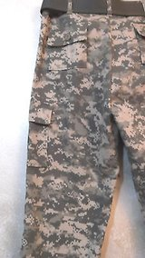 NEW CAMO Pants BDU Jr GI Cargo Belt Waist 28-32 Inseam 30.5 Unisex Rothco NWOT in Chicago, Illinois