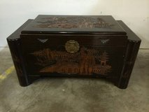 Large Chinese Camphor Wood Chest - Hand Carved in Tomball, Texas