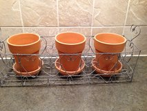Vintage wire planter/pots sold separately, .99 each in Joliet, Illinois