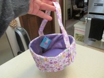 Pretty Lavender Fabric Easter Basket - NWT in Houston, Texas