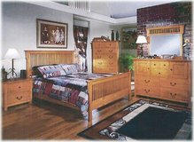 Pine Mission Queensize Bedset - monthly payments possible in Hohenfels, Germany