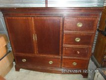 Wooden Dresser/Armoire W/ 2 Doors, 4 Drawers, and 1 Long Drawer KM 2 in Fort Carson, Colorado