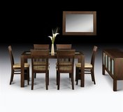 Dining Set - Santiago in Wenge Finish - monthly payments possible in Hohenfels, Germany