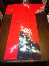 Vintage Silk Kimono  - Red w/Cherry Blossoms in Fort Lewis, Washington